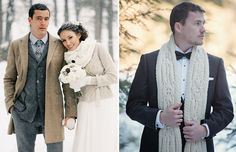 We take a look at some great winter groom style inspiration to see just how fab your man can look in cosy winter warmers without compromising on style.