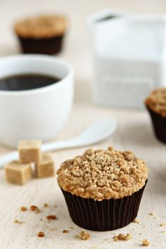 Banana Crumb Muffins | My Baking Addiction #desserts #dessertrecipes #yummy #delicious #food #sweet