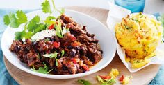 Serve this tender slow-cooked, pulled beef with chilli cornbread muffins to mop up all the sauce.