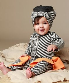 Another great find on #zulily! Milk Stripe Agave Playsuit - Infant #zulilyfinds