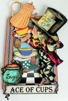 Alice in Wonderland Tarot Cards, Wonderland Scene, New Collage Sheets and Digital Image Set (Artfully Musing) Free Tarot Cards, Atc Cards, Lewis Carroll, Alice In Wonderland Party, Mad Hatter Tea, Oracle Cards, Tarot Decks, Portfolio, Collage Sheet