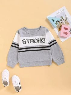 Printed Sweatshirts, Hooded Sweatshirts, Grey Pattern, Boys Hoodies, Camo Print, Pop Fashion, Types Of Sleeves, Toddler Boys, Letter