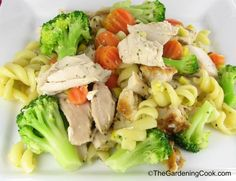 Garlic Chicken with Pasta and Vegetables The Gardening Cook