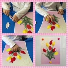 Flowers diy kids crafts mothers Ideas for 2019 Paper Crafts For Kids, Diy For Kids, Diy And Crafts, School Art Projects, Projects To Try, Flower Illustration Pattern, Diy Niños Manualidades, Mothers Day Crafts, Art Activities