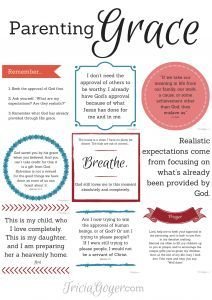 Tricia Goyer has a FREE Parenting Grace printable for you to print and hang. Her post includes encouraging words to encourage you in you
