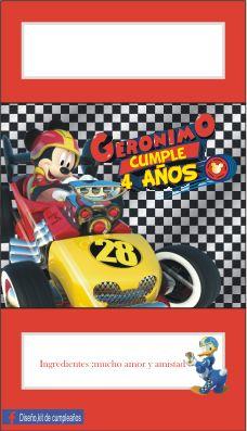 Resultado De Imagen De Invitaciones De Cumpleaños De Mickey
