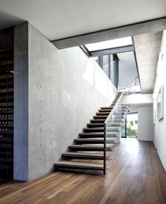 Oak Pass House   Contemporary Property Located in Beverly Hills concrete elements sophisticated wood