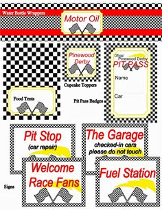 Little Miss Scatter-Brain: Pinewood Derby Printables