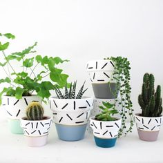 Items similar to Hand Painted Teal Dash Plant Pot – on Etsy - garden pot design Terracotta Plant Pots, Painted Plant Pots, Painted Flower Pots, Ceramic Painting, Diy Painting, Pot Plante, Ceramic Pots, Pottery Designs, Diy Planters