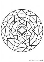Mandalas coloring pages.  91 Mandalas pictures to print and color.