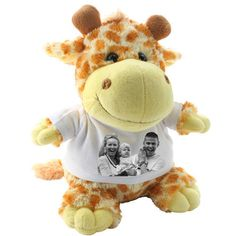 personalised soft toy girraffe plush toy with your photo image or logo Your Photos, Giraffe, Plush, Teddy Bear, Toys, Gifts, Animals, Ebay, Image