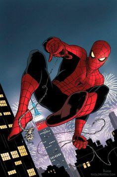 #Spiderman #Fan #Art. (Spiderman) By: Paolo Rivera. (THE * 5 * STÅR * ÅWARD * OF: * AW YEAH, IT'S MAJOR ÅWESOMENESS!!!™) ÅÅÅ+ 5 1