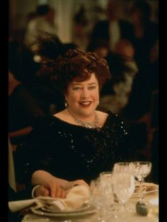 Kathy Bates as Molly Brown in Titanic.