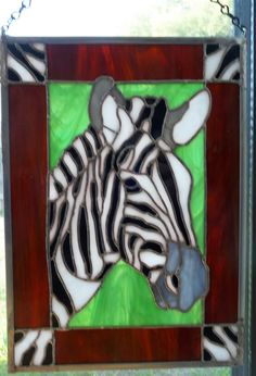 stained glass Zebra by Beth