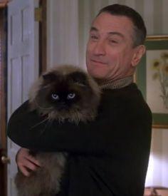 Robert De Niro with beloved Himalayan house cat, Mr Jinx. Animal Gato, Mundo Animal, Crazy Cat Lady, Crazy Cats, I Love Cats, Cool Cats, Siamese Cats, Cats And Kittens, Celebrities With Cats