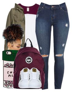 """52116"" by naenaecrazy ❤ liked on Polyvore featuring Victoria's Secret PINK, H&M, ban.do, Hype and adidas"