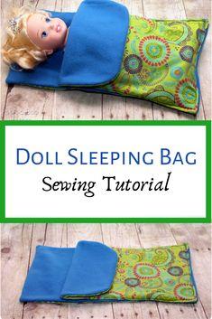FQ Doll Sleeping Bag Tutorial Peek-a-Boo-pagina's Patronen stof en meer! Doll Patterns Free, Bag Pattern Free, Doll Sewing Patterns, Doll Clothes Patterns, Clothing Patterns, Sewing Tutorials, Sewing Doll Clothes, Baby Doll Clothes, Sewing Dolls