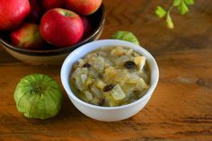 Warm up with some Apple and Tomatillo Chutney