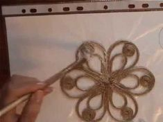 How To Make a Simple Decorative Twine Flower - DIY Crafts Tutorial - Guidecentral - YouTube