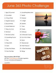 June Photo Challenge List                                                       …