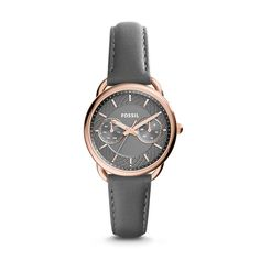 Tailor Multifunction Gray Leather Watch  Not sure if I'm still super into the rose gold, but it is pretty.