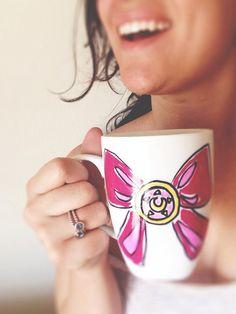 Sailor Moon Mug by PaintedNerdyThings on Etsy, $15.00