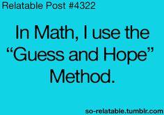@Jenny Lee the main strategy used by students at Gaston..ha ha