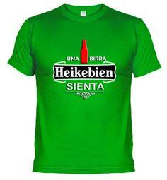 Camiseta Una birra Heikebien sienta