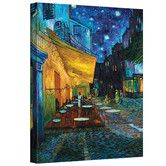 """$79, 48x36"""" - Found it at Wayfair - """"Cafe Terrace at Night"""" by Vincent Van Gogh Painting Print on Canvas"""