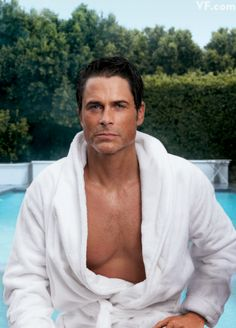 ROB LOWE  Photographed by Annie Leibovitz poolside at his home in Montecito, California, 2011.