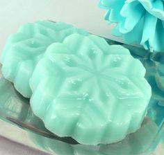 Shea Butter Soap - Winter Mint Scent - Snowflake Star of David Soap - Vegan Friendly - Christmas. $3.75, via Etsy.