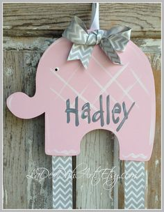 Elephant Bow Holder Hair Bow Holder Bow Keeper Girl by ladeedahart