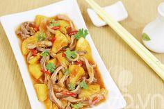 Cách làm món dạ dày heo xào sốt dứa tuyệt ngon - http://congthucmonngon.com/165821/cach-lam-mon-da-day-heo-xao-sot-dua-tuyet-ngon.html
