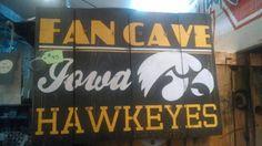 Iowa Hawkeye fancave sign by RandomHarvestSD on Etsy