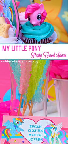 Round up your ponies and host a colorful and fun My Little Pony party! Read on for My Little Pony party food ideas and free printables. My Little Pony Food, Little Pony Cake, My Little Pony Birthday Party, 6th Birthday Parties, 3rd Birthday, Birthday Ideas, Rainbow Dash Party, Little Poney, Party Activities