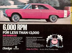 1969 Dodge Dart Swinger 340 advertisement