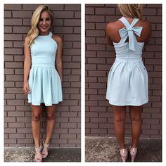 Pale Mint Cross Bow Dress