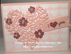 Bloomin' Heart Valentine by BuffyC - Cards and Paper Crafts at Splitcoaststampers