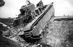 Soviet T-35  Soviet heavy tank t-35 abandoned in a roadside ditch because of…