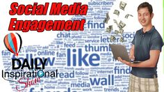 How to increase your social media engagement and get a lot of likes, comments and shares whenever you post something on Facebook? Learn how to ENGAGE people in YOU and what you are doing.