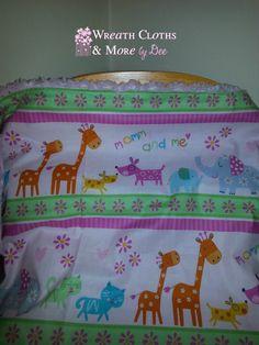 Mommy & Me Minky Animal Print Pink Blanket by WreathClothsbyDee, $8.00