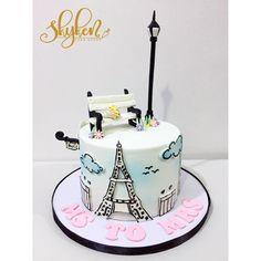 Paris Birthday Cakes, Sweet Birthday Cake, Paris Themed Cakes, Paris Themed Birthday Party, Paris Cakes, Luau Birthday, Birthday Cake Girls, Beautiful Cakes, Amazing Cakes
