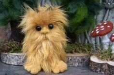 Baby Yeti honey color faux fur big foot #sasquatch by woolcrazy.etsy.com #etsy #yeti #bigfoot