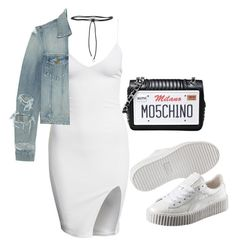 """""""Untitled #36"""" by brittany0045 on Polyvore featuring Puma, Aamaya by priyanka, Yves Saint Laurent and Moschino"""