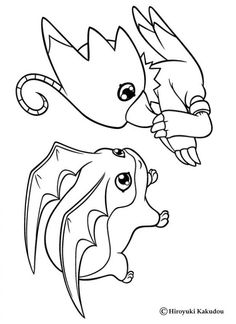 gomamon from digimon anime coloring pages for kids printable free