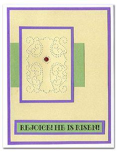 Picture - Pierced Cross Card