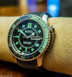 Bremont Supermarine S500 Black/Green Automatic Men's Diving Watch