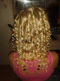 My nature blond hair