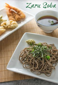 Cold Japanese soba (buckwheat) noodles dipped in a cold dashi broth. A perfect light, healthy dinner for a hot summer day (or any day! Asian Recipes, Healthy Recipes, Ethnic Recipes, Easy Recipes, Amazing Recipes, Skillet Recipes, Sweets Recipes, Popular Recipes, A Food