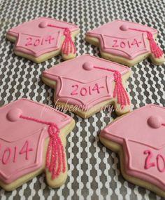 Pink Graduation Party, Graduation Cookies, Graduation Ideas, Graduation Crafts, Graduation Decorations, College Graduation, Super Cookies, Iced Cookies, Fun Cookies